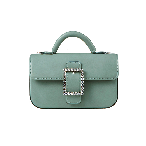 Lady Embellished Baguette Bag_Mint