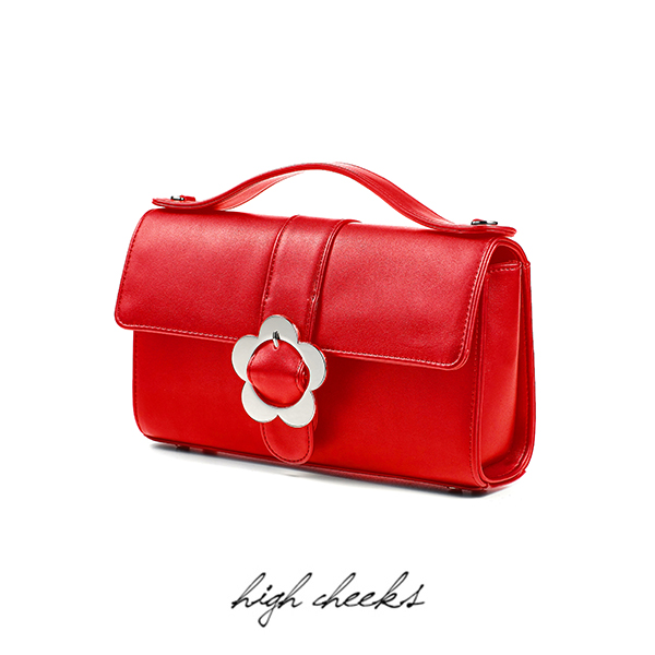 Heyday Flower Buckle Bag_Red Leather