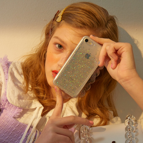 Audrey Ruffle Phonecase_Clear