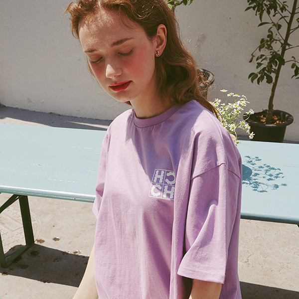 [25%]High Cheeks Cookie Logo T-shirt_Violet