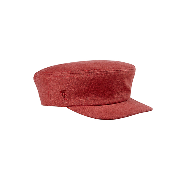 [SAMPLE SALE Price] [HIGH CHEEKS X AWESOME NEEDS] Linen Newsboy Cap_Red